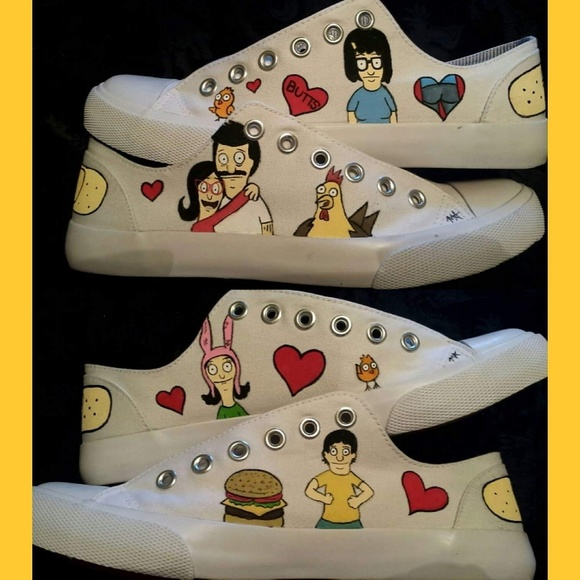 b532327027 Shoes - Hand painted Bob s burgers shoes
